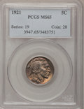 Buffalo Nickels: , 1921 5C MS65 PCGS. PCGS Population (236/167). NGC Census: (127/68).Mintage: 10,663,000. Numismedia Wsl. Price for problem ...