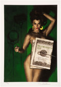 Memorabilia:Comic-Related, Glen Orbik Money Shot Limited Edition Giclee Print #AP3/25 (Clampett Studio Collections, undated).... (Total: 2 Items)