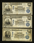 National Bank Notes:Colorado, Three Denver Large Size Nationals. ... (Total: 3 notes)