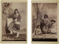American Indian Art:Photographs, UTE GIRL and APACHE MOTHER AND CHILDREN . c. 1880... (Total: 2Items)