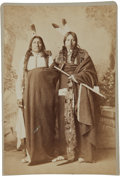 American Indian Art:Photographs, SPOTTED TAIL AND IRON WING . c. 1880...