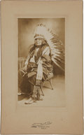 American Indian Art:Photographs, CHIEF STANDING ELK . c. 1900 ...