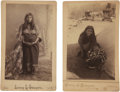 American Indian Art:Photographs, KIOWA WOMAN and KIOWA MOTHER AND CHILD. c. 1890... (Total: 2 Items)