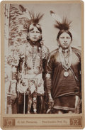 American Indian Art:Photographs, TWO OSAGE WARRIORS. c. 1890...