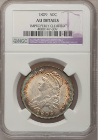 1809 50C Normal Edge--Improperly Cleaned--NGC Details. AU. NGC Census: (29/233). PCGS Population (48/193). Mintage: 1,40...