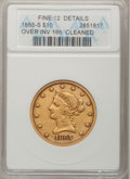 Liberty Eagles, 1865-S $10 865 Over Inverted 186--Cleaned--ANACS. Fine 12 Details.NGC Census: (2/28). PCGS Population (2/30). Numismedia ...