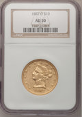 Liberty Eagles: , 1882-O $10 AU50 NGC. NGC Census: (25/100). PCGS Population (24/47).Mintage: 10,820. Numismedia Wsl. Price for problem free...