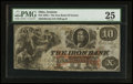 Obsoletes By State:Ohio, Ironton, OH- The Iron Bank $10 June 2, 1856 UNL Wolka 1344-15. ...