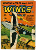 Golden Age (1938-1955):War, Wings Comics #38 (Fiction House, 1943) Condition: VG+....