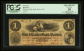 Obsoletes By State:Massachusetts, Boston, MA- Hide & Leather Bank of Boston $1 Aug. 1, 1862 G2a....
