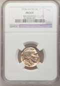 Proof Buffalo Nickels, 1936 5C Type One--Satin Finish, Rim Damage--NGC Details. Proof. NGCCensus: (0/598). PCGS Population (0/833). Mintage: 4,42...