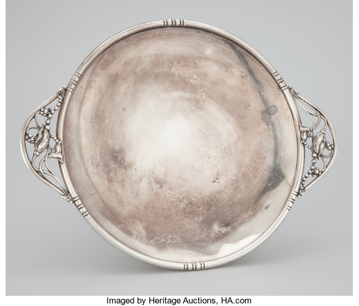 AN AMERICAN SILVER TWO HANDLED DISH . Michael C. Fina Co., | Lot #57129 | Heritage Auctions