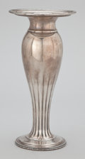 Silver Holloware, American:Vases, AN AMERICAN SILVER VASE WITH RETICULATED RIM . Towle Silversmiths,Newburyport, Massachusetts, circa 1920. Marks: (lion in T...