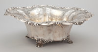 AN AMERICAN SILVER FOOTED CENTER BOWL Redlich & Company, New York, New York, circa 1920 Marks: (lion head eras