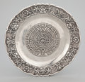 Silver Holloware, Mexican:Holloware, A MEXICAN SILVER ROUND CHASED REPOUSSÉ TRAY . Marciel SilverFactory, Mexico City, Mexico, circa 1950. Marks: MARCIEL,STE...