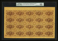 Fr. 1230 5¢ First Issue Complete Sheet of 20 PMG About Uncirculated 55