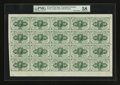 Fractional Currency:First Issue, Fr. 1242 10¢ First Issue Complete Sheet of Twenty PMG Choice AboutUnc 58.. ...
