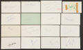 Baseball Collectibles:Others, 1962 Major League Baseball Debut Year Signed Index Cards andGovernment Postcards Lot of 142....