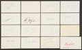 Baseball Collectibles:Others, 1961 Major League Baseball Debut Year Signed Index Cards andGovernment Postcards Lot of 111....