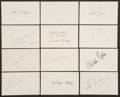 Baseball Collectibles:Others, 1958 Major League Baseball Debut Year Signed Index Cards andGovernment Postcards Lot of 102....