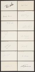 Baseball Collectibles:Others, 1956 Major League Baseball Debut Year Signed Index Cards andGovernment Postcards Lot of 89....