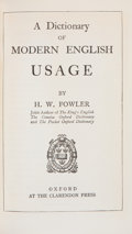 Books:Books about Books, [Books About Books]. H. W. Fowler. A Dictionary of Modern English Usage. Oxford: Clarendon Press, [1959]. Later edit...