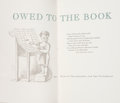 Books:Books about Books, William E. Lickfield [editor]. Owed to the Book. Philadelphia: Typophiles, 1957. First edition, limited to 500 copie...