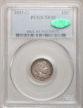 Barber Dimes: , 1893-O 10C XF45 PCGS. CAC. PCGS Population (5/129). NGC Census:(1/110). Mintage: 1,760,000. Numismedia Wsl. Price for prob...