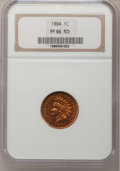 Proof Indian Cents, 1894 1C PR66 Red NGC....