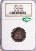 Proof Seated Quarters, 1881 25C PR65 Cameo NGC. CAC....