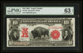 Large Size:Legal Tender Notes, Fr. 122 $10 1901 Legal Tender PMG Choice Uncirculated 63 EPQ.. ...