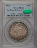 Bust Half Dollars, 1828 50C Square Base 2, Small 8, Large Letters MS61 PCGS. CAC.O-113, R.3....