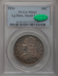 Bust Half Dollars, 1834 50C Large Date, Small Letters MS62 PCGS. CAC. O-106, R.1....