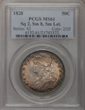 Bust Half Dollars, 1828 50C Square Base 2, Small 8, Small Letters MS61 PCGS. O-119,R.3....