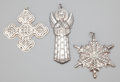 Silver Smalls:Other , A GROUP OF FOUR AMERICAN SILVER CHRISTMAS ORNAMENTS . GorhamManufacturing Co., Providence, Rhode Island, circa 1972. Marks ...(Total: 4 Items)