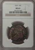 Bust Half Dollars, 1829 50C Small Letters MS63 NGC. O-105, R.1....