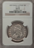 Bust Half Dollars, 1829 50C Small Letters AU53 NGC. O-106, Low R.5....