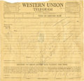 Baseball Collectibles:Others, 1959 New York Yankees Team Signed Telegram....