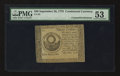 Colonial Notes:Continental Congress Issues, Blue Counterfeit Detector Continental Currency September 26, 1778$30 PMG About Uncirculated 53.. ...