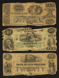 Obsoletes By State:Louisiana, Three New Orleans, Louisiana Banks.. ... (Total: 3 notes)