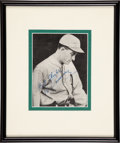 Baseball Collectibles:Photos, Al Simmons Signed Photograph Display....