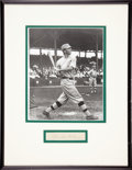 "Baseball Collectibles:Others, Frank ""Home Run"" Baker Cut Signature Display...."