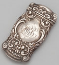 Silver Smalls:Match Safes, AN AMERICAN SILVER MATCH SAFE . Whiting Manufacturing Company, NewYork, New York, circa 1900. Marks: (griffin with W), ST...