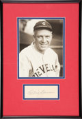 Baseball Collectibles:Others, Tris Speaker Signed Cut Signature Display....