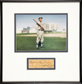 Baseball Collectibles:Others, Napoleon Lajoie Signed Cut Signature Display....