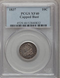 Bust Dimes, 1837 10C XF40 PCGS. PCGS Population (7/104). NGC Census: (5/109).Mintage: 359,500. Numismedia Wsl. Price for problem free ...