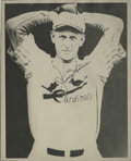 """Autographs:Photos, Jesse Haines Signed Photograph. Knuckleballing Hall of Famer Jesse""""Pop"""" Haines is the subject of the tremendous 8x10"""" prin..."""