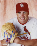 """Autographs:Photos, Darryl Kile Signed Photograph. Exceptional 8x10"""" portrait of thetragic figure Darryl Kile, who was found dead in his hotel..."""