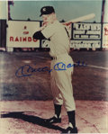 """Autographs:Photos, Mickey Mantle Signed Photograph. Famous 8x10"""" image of a boyishMickey Mantle depicts a young man flirting with immortality..."""