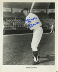 """Autographs:Photos, Mickey Mantle Signed Photograph. A sharp contrast to the rookieportrait we offer of him, this 8x10"""" print of the Commerce ..."""